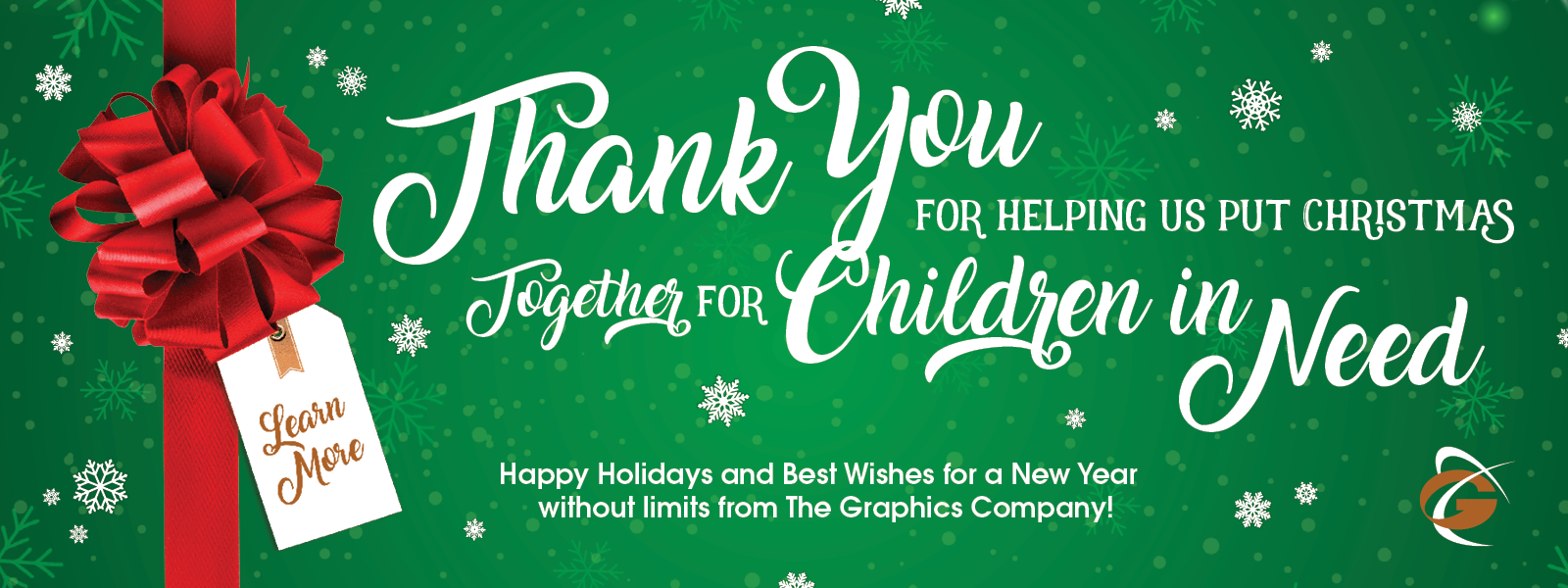 Thank You for Helping Us Put Christmas Together for Children in Need