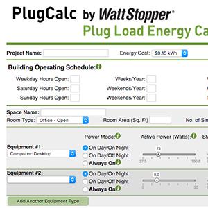 Wattstopper PlugCalc