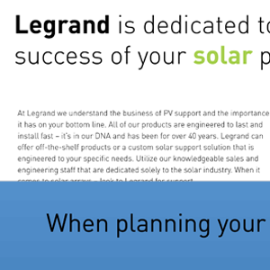 Legrand Solar Brochure
