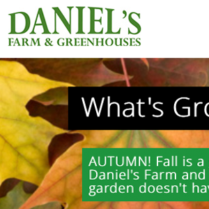 Daniel's Farm and Greenhouse Website